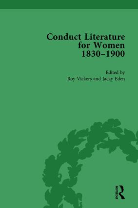Conduct Literature for Women, Part V, 1830-1900 vol 3: 1st Edition (Hardback) book cover