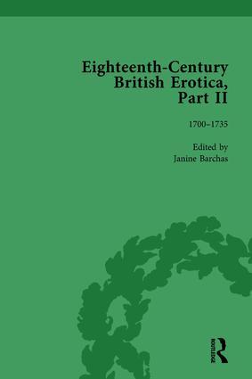 Eighteenth-Century British Erotica, Part II vol 1: 1st Edition (Hardback) book cover