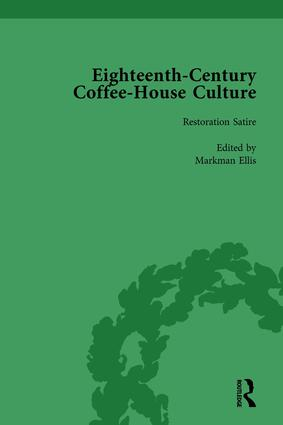 Eighteenth-Century Coffee-House Culture, vol 1 book cover