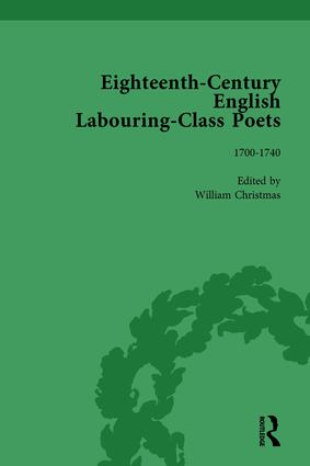 Eighteenth-Century English Labouring-Class Poets, vol 1: 1st Edition (Hardback) book cover