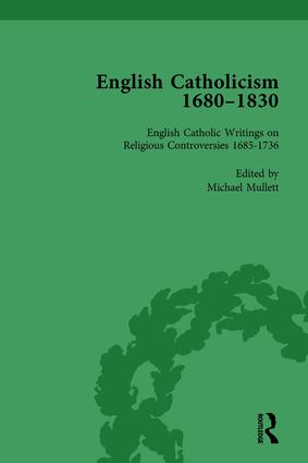 English Catholicism, 1680-1830, vol 1: 1st Edition (Hardback) book cover
