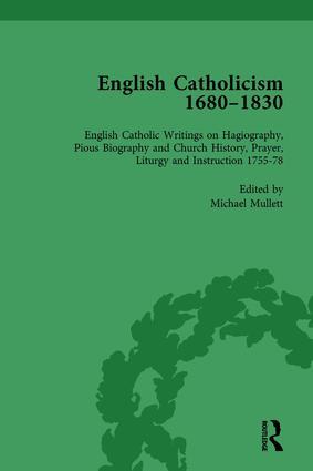 English Catholicism, 1680-1830, vol 4: 1st Edition (Hardback) book cover