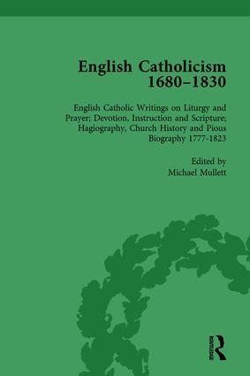 English Catholicism, 1680-1830, vol 6: 1st Edition (Hardback) book cover