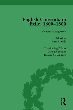 English Convents in Exile, 1600–1800, Part II, vol 5: 1st Edition (Hardback) book cover