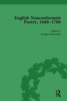 English Nonconformist Poetry, 1660–1700, vol 1: 1st Edition (Hardback) book cover
