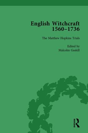 English Witchcraft, 1560-1736, vol 3: 1st Edition (Hardback) book cover