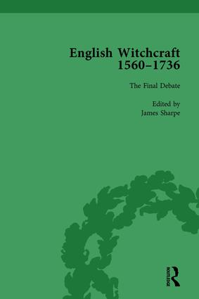 English Witchcraft, 1560-1736, vol 6: 1st Edition (Hardback) book cover