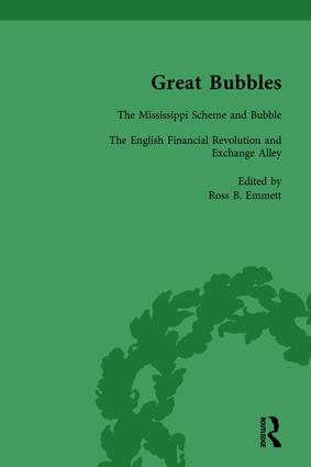 Great Bubbles, vol 2: Reactions to the South Sea Bubble, the Mississippi Scheme and the Tulip Mania Affair, 1st Edition (Hardback) book cover