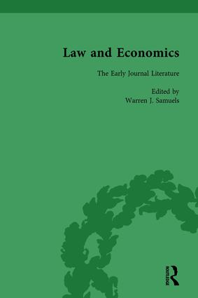 Law and Economics Vol 2: The Early Journal Literature, 1st Edition (Hardback) book cover