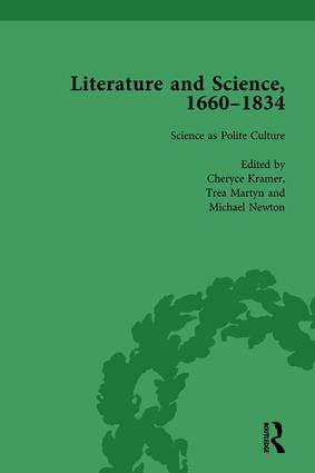 Literature and Science, 1660-1834, Part I. Volume 1: 1st Edition (Hardback) book cover