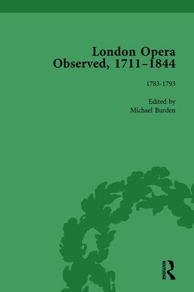 London Opera Observed 1711–1844, Volume III: 1783-1792, 1st Edition (Hardback) book cover