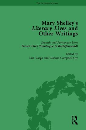 Mary Shelley's Literary Lives and Other Writings, Volume 2: 1st Edition (Hardback) book cover