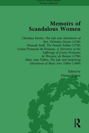 Memoirs of Scandalous Women, Volume 5: 1st Edition (Hardback) book cover