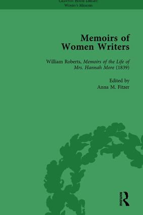 Memoirs of Women Writers, Part I, Volume 2: 1st Edition (Hardback) book cover