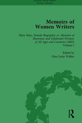 Memoirs of Women Writers, Part II, Volume 5: 1st Edition (Hardback) book cover