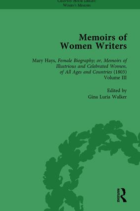 Memoirs of Women Writers, Part II, Volume 7: 1st Edition (Hardback) book cover