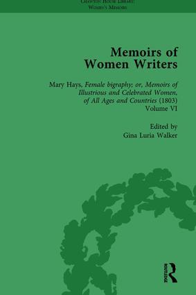 Memoirs of Women Writers, Part III vol 10 book cover