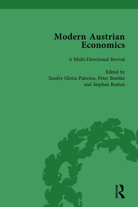 Modern Austrian Economics Vol 1 book cover