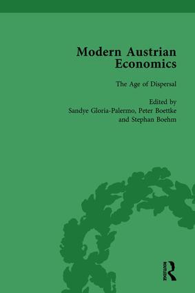 Modern Austrian Economics Vol 2: 1st Edition (Hardback) book cover