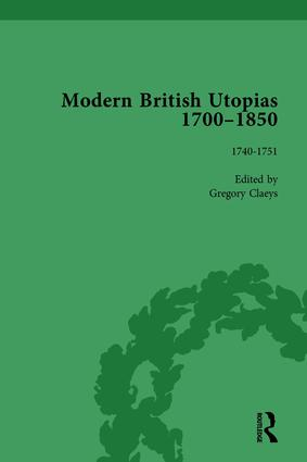 Modern British Utopias, 1700-1850 Vol 2: 1st Edition (Hardback) book cover