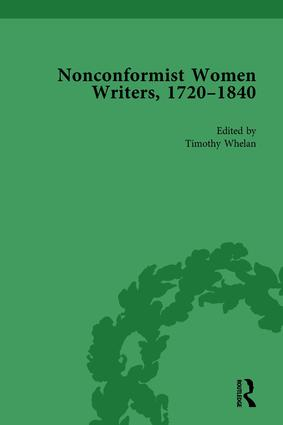 Nonconformist Women Writers, 1720-1840, Part I Vol 3: 1st Edition (Hardback) book cover
