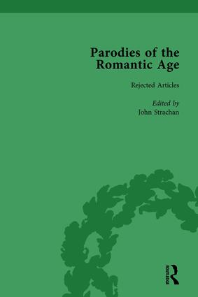 Parodies of the Romantic Age Vol 5: Poetry of the Anti-Jacobin and Other Parodic Writings, 1st Edition (Hardback) book cover