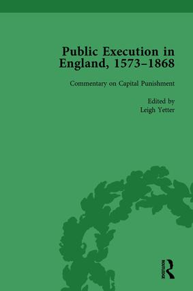 Public Execution in England, 1573–1868, Part II vol 8: 1st Edition (Hardback) book cover