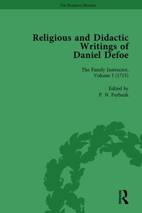 Religious and Didactic Writings of Daniel Defoe, Part I Vol 1: 1st Edition (Hardback) book cover