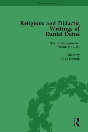 Religious and Didactic Writings of Daniel Defoe, Part I Vol 2: 1st Edition (Hardback) book cover