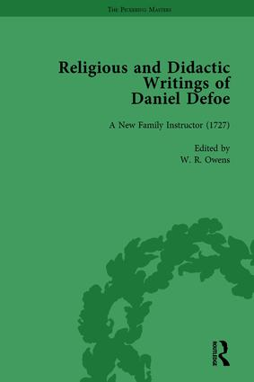 Religious and Didactic Writings of Daniel Defoe, Part I Vol 3: 1st Edition (Hardback) book cover