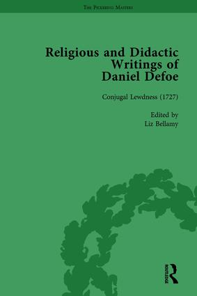 Religious and Didactic Writings of Daniel Defoe, Part I Vol 5: 1st Edition (Hardback) book cover
