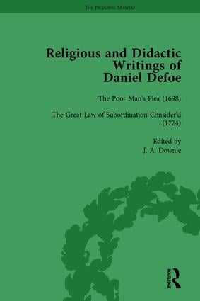 Religious and Didactic Writings of Daniel Defoe, Part II vol 6: 1st Edition (Hardback) book cover