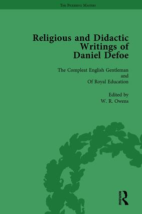 Religious and Didactic Writings of Daniel Defoe, Part II vol 10: 1st Edition (Hardback) book cover