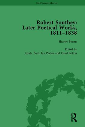 Robert Southey: Later Poetical Works, 1811–1838 Vol 1: 1st Edition (Hardback) book cover
