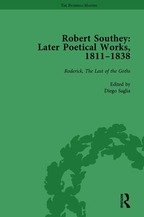 Robert Southey: Later Poetical Works, 1811–1838 Vol 2: 1st Edition (Hardback) book cover