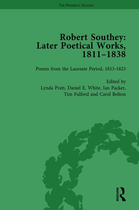 Robert Southey: Later Poetical Works, 1811–1838 Vol 3: 1st Edition (Hardback) book cover