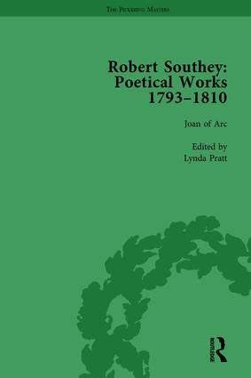 Robert Southey: Poetical Works 1793–1810 Vol 1: 1st Edition (Hardback) book cover