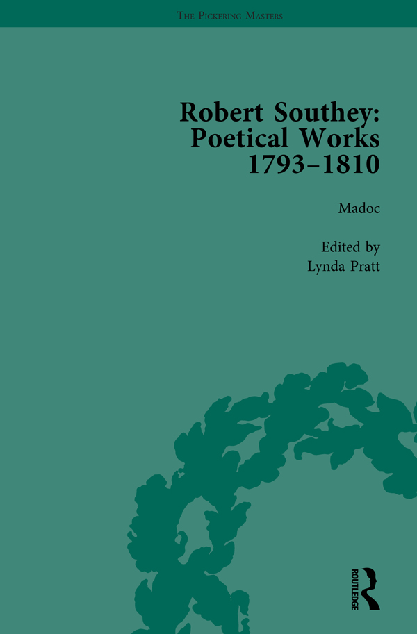 Robert Southey: Poetical Works 1793–1810 Vol 2: 1st Edition (Hardback) book cover