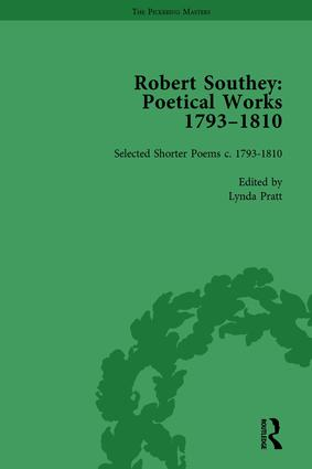 Robert Southey: Poetical Works 1793–1810 Vol 5: 1st Edition (Hardback) book cover