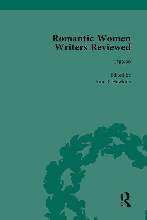Romantic Women Writers Reviewed, Part I Vol 2: 1st Edition (Hardback) book cover