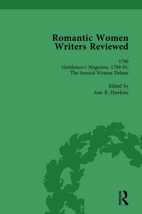 Romantic Women Writers Reviewed, Part I Vol 3: 1st Edition (Hardback) book cover