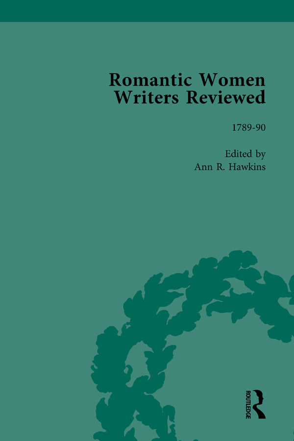Romantic Women Writers Reviewed, Part II vol 4: 1st Edition (Hardback) book cover