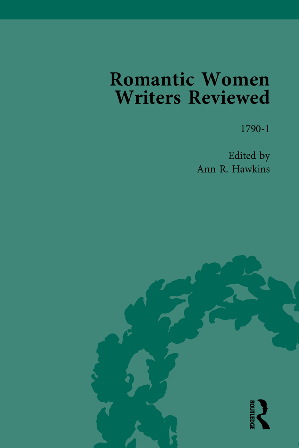 Romantic Women Writers Reviewed, Part II vol 5: 1st Edition (Hardback) book cover