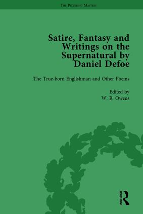 Satire, Fantasy and Writings on the Supernatural by Daniel Defoe, Part I Vol 1: 1st Edition (Hardback) book cover