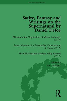 Satire, Fantasy and Writings on the Supernatural by Daniel Defoe, Part I Vol 4: 1st Edition (Hardback) book cover