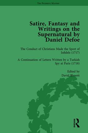 Satire, Fantasy and Writings on the Supernatural by Daniel Defoe, Part II vol 5: 1st Edition (Hardback) book cover
