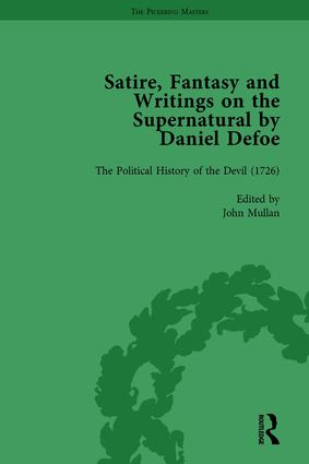 Satire, Fantasy and Writings on the Supernatural by Daniel Defoe, Part II vol 6: 1st Edition (Hardback) book cover