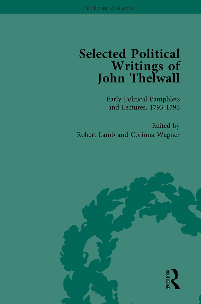 Selected Political Writings of John Thelwall Vol 1 book cover