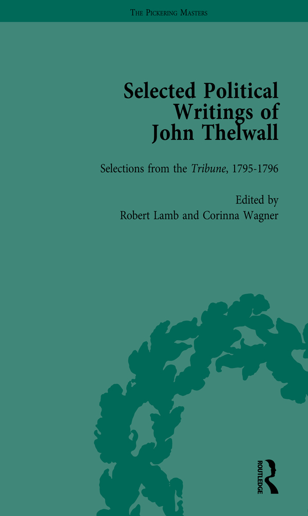 Selected Political Writings of John Thelwall Vol 2 book cover
