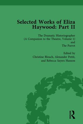 Selected Works of Eliza Haywood, Part II Vol 1: 1st Edition (Hardback) book cover